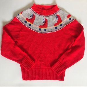 Vintage Roller Skate Cropped Sweater